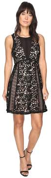 Adelyn Rae Loretta Woven Lace Fit and Flare Dress Women's Dress