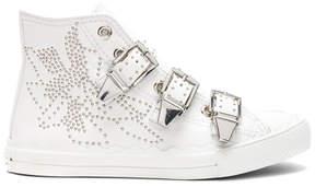 Chloé Kyle Semi-Shiny Calf Leather Buckle Sneakers