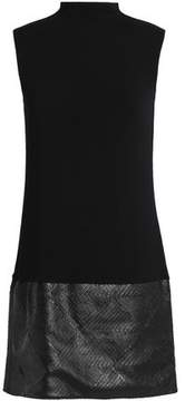 Bailey 44 Faux Leather-Paneled Stretch-Jersey Mini Dress