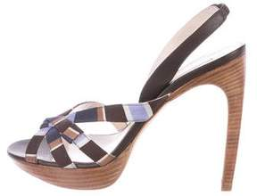 Celine Printed Slingback Sandals