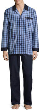 Jockey Men's Yarn Dye Woven Pajama Set-Big and Tall