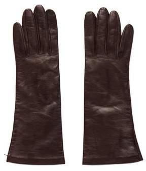 Neiman Marcus Leather Wrist Gloves