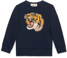Children's sweatshirt with tiger