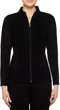 Allison Daley Mock Neck Zip Front Cardigan