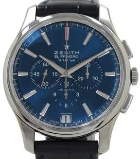Zenith Captain Charle Vermo Tribute Stainless Steel / Leather Automatic 42mm Mens Watch