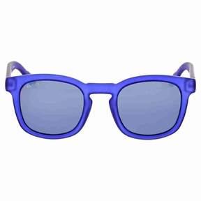 Gucci Square Blue Mirror Sunglasses