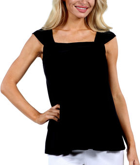 24/7 Comfort Apparel Sleeveless Side Tie Knit Tank Top