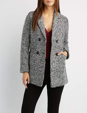 Charlotte Russe Double-Breasted Boucle Coat