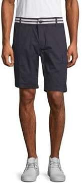 ProjekRaw Striped-Waist Cargo Shorts