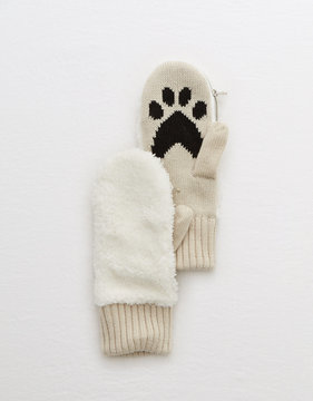 aerie Convertible Paw Mittens