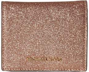 MICHAEL Michael Kors Flap Card Holder Credit card Wallet - ROSE GOLD - STYLE