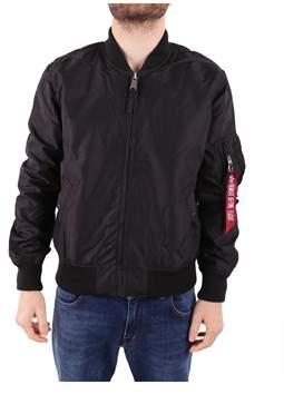 Alpha Industries Men's Black Polyamide Outerwear Jacket.