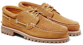 Timberland + Engineered Garments Suede And Nubuck Boat Shoes