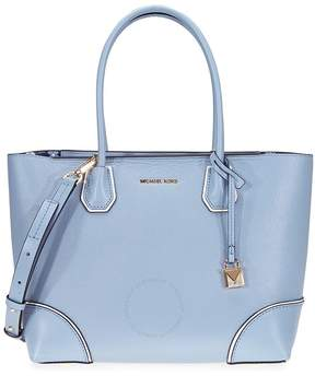Michael Kors Mercer Gallery Medium Leather Tote- Pale Blue - ONE COLOR - STYLE