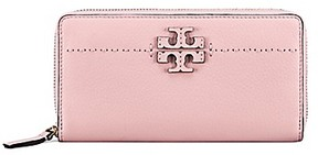 Tory Burch Mcgraw Zip Continental Wallet - PINK QUARTZ - STYLE