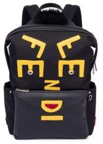 Fendi Vocabulary Fur-Trim Backpack