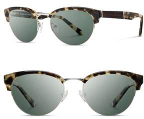 Shwood Women's 'Hayden' 53Mm Acetate & Wood Sunglasses - Vintage Tortoise/ Silver/ G15