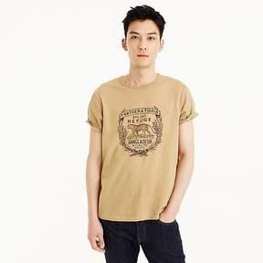 J.Crew Wallace & Barnes tiger graphic tubular T-shirt