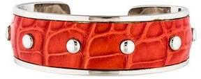 Tod's Embossed Cuff Bracelet