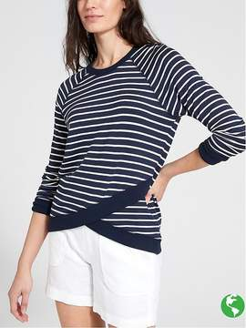 Athleta Stripe Criss Cross Sweatshirt