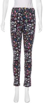 Cynthia Rowley Floral Print Mid-Rise Pants