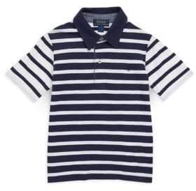 Ralph Lauren Little Boy's& Boy's Contrast Striped Cotton Polo