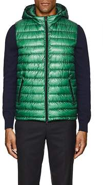 Herno MEN'S RIPSTOP DOWN-QUILTED HOODED VEST