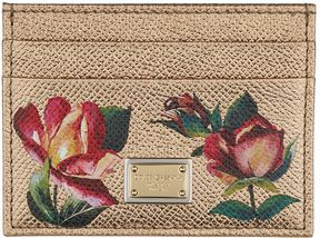 Dolce & Gabbana Floral Print Card Holder - MULTI - STYLE