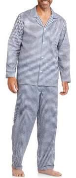 Fruit of the Loom Men's Long Sleeve Long Pant Print Pajama