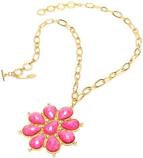 Amrita Singh Austrian Crystal & Fuchsia Maisie Pendant Necklace