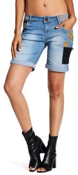 Desigual Multi Patch Design Bermuda Shorts