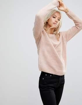 Blend She Rosie Round Neck Chenille Sweater