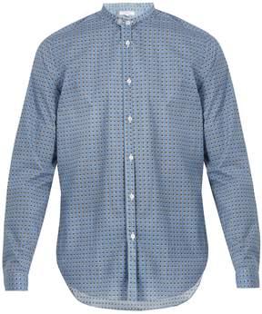 Boglioli Stand-collar spotted-print cotton-poplin shirt
