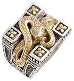 Konstantino Men's 'Minos' Carved Serpent Ring