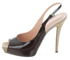 Barbara Bui Patent Leather Peep-Toe Pumps