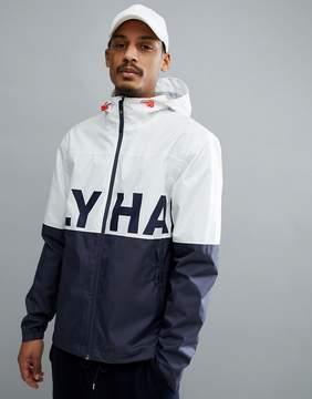 Helly Hansen Amaze Logo Jacket In White/Navy