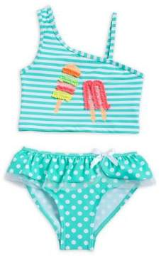 Flapdoodles Little Girl's Two-Piece Ice Pop Swimsuit Set