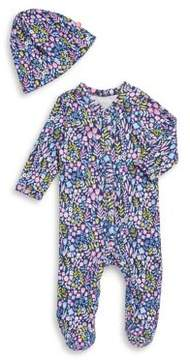 Offspring Baby Girl's Two-Piece Cotton Footie & Matching Hat Set