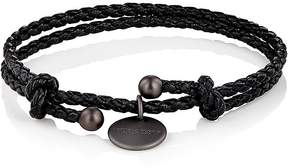 Bottega Veneta Men's Intrecciato Leather Double-Band Bracelet