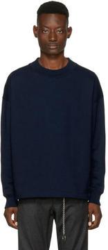 Lemaire Navy Crewneck Sweatshirt