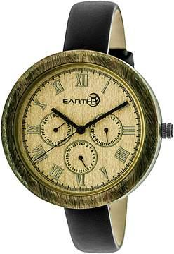 Earth Wood Brush Olive Wood Multi-Function Ladies Watch