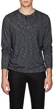 John Varvatos Men's Cotton-Blend Double-Face Henley