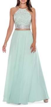 Decode 1.8 Two-Piece Halter Gown