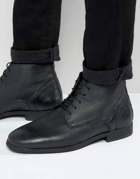 Asos Chukka Boots in Black Leather