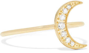 Andrea Fohrman Mini Crescent 18-karat Gold Diamond Ring