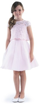 Us Angels Toddler Girl's Lace Top & Mesh Skirt Set