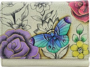 Anuschka Anna By ANNA by Hand Painted Three Fold Wallet 1850 (Women's)