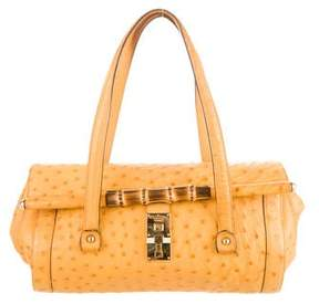 Gucci Ostrich Bamboo Bullet Bag - YELLOW - STYLE