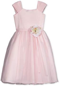Us Angels Lavender by Floral Applique Dress, Big Girls