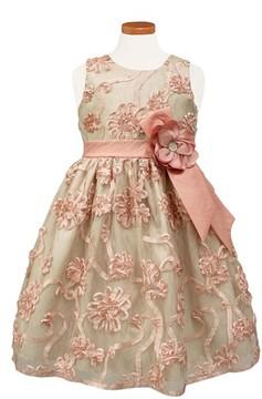 Sorbet Girl's Ribbon Rosette Party Dress